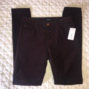 J Brand Blackberry Skinny Leg Mid-Rise Pant